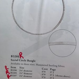 Silpada Social Circle Bangle